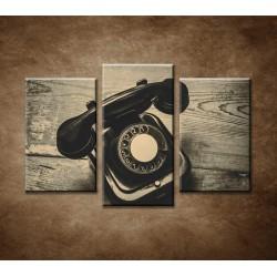 Obrazy na stenu - Starý telefón - 3-dielny 75x50cm