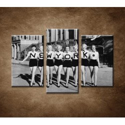 Obrazy na stenu - Retro ženy - 3-dielny 75x50cm
