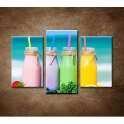 Obrazy na stenu - Ovocné smoothies - 3dielny 75x50cm