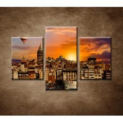 Obrazy na stenu - Balón v Istanbule - 3dielny 90x60cm