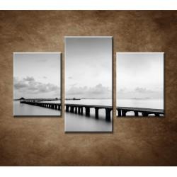 Obrazy na stenu - Most na pláži - 3dielny 90x60cm