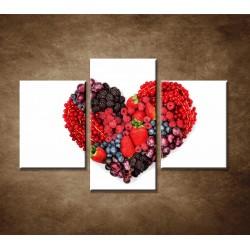 Obrazy na stenu - Ovocné srdce - 3dielny 90x60cm