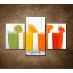 Obrazy na stenu - Fresh nápoje - 3dielny 90x60cm