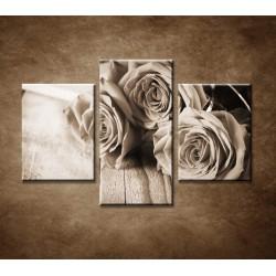 Obrazy na stenu - Ruže na stole - 3dielny 90x60cm