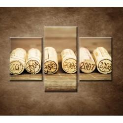 Obrazy na stenu - Vínne zátky - 3dielny 90x60cm