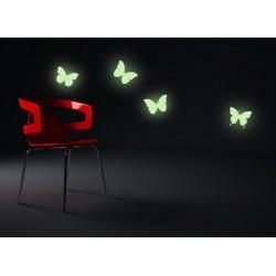 Nálepka na stenu - Svietiaci motýlikovia