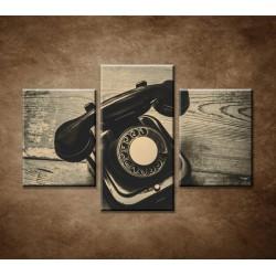 Obrazy na stenu - Starý telefón - 3dielny 90x60cm