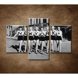 Obrazy na stenu - Retro ženy - 3dielny 90x60cm