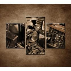 Obrazy na stenu - Retro kamera - 3dielny 90x60cm
