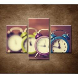 Obrazy na stenu - Retro hodiny - 3dielny 90x60cm