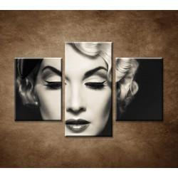 Obrazy na stenu - Elegantná žena - 3dielny 90x60cm