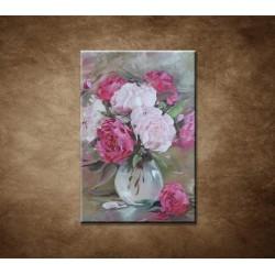 Obrazy na stenu - Olejomaľba - Kytica pivoniek