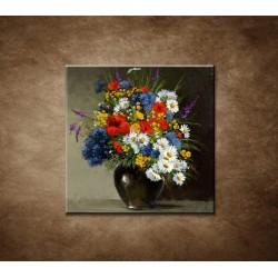 Obrazy na stenu - Olejomaľba - Farebná kytica