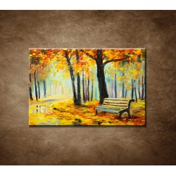 Obrazy na stenu - Olejomaľba - Pestré jesenné lesy