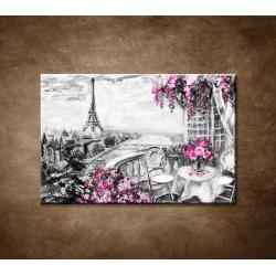 Obrazy na stenu - Olejomaľba - Kaviareň v Paríži