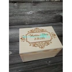 Drevená krabička na peniaze