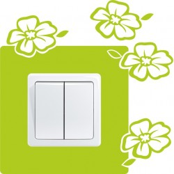 Nálepka pod vypínač - Kvety 5