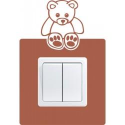 Nálepka pod vypínač - Medvedík