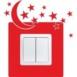 Nálepka pod vypínač - Mesiac a hviezdy
