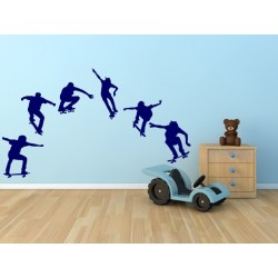 Nálepka na stenu - Skateboardisti -  6 kusov