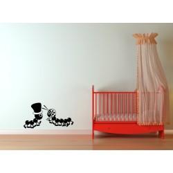 Nálepka na stenu - Mravčeky - 2 kusy