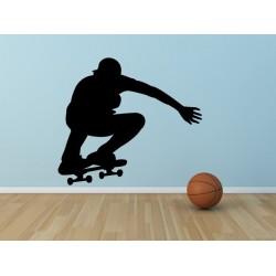 Nálepka na stenu - Skateboardista 2