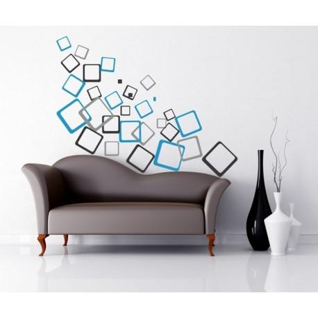 Nálepka na stenu - Kocky moderné
