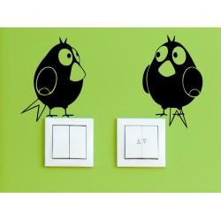 Nálepka na stenu - Vtáci - set 2 kusov