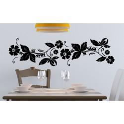 Nálepka na stenu - Kvetový ornament 2