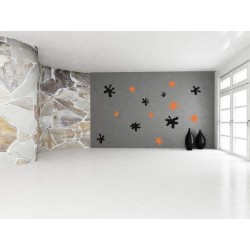 Nálepka na stenu - Machule - 24 kusov