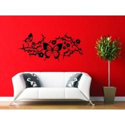 Nálepka na stenu - Motýli ornament 2