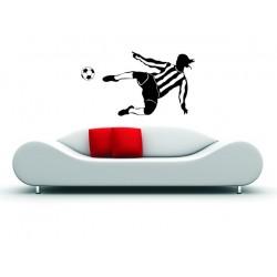 Nálepka na stenu -  Futbalista s loptou