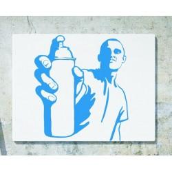 Nálepka na stenu - Grafiťák