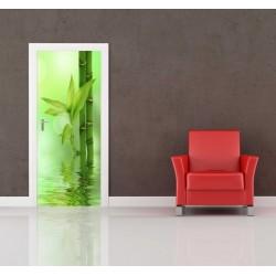 Nálepka na dvere - Bambus