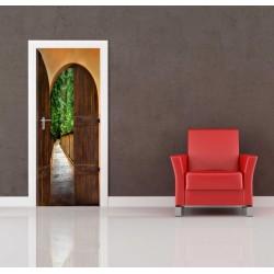 Nálepka na dvere - Dvere do záhrady