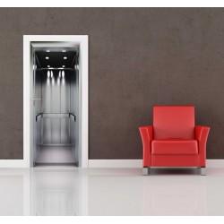 Nálepka na dvere - Otvorený výťah