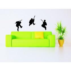 Nálepky na stenu - Rockeri - 3 kusy