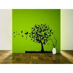 Nálepka na stenu - Motýli strom