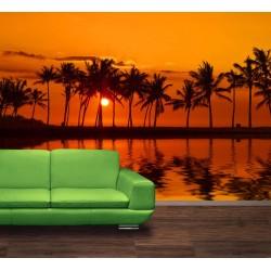 Fototapety - Červené zore nad morom