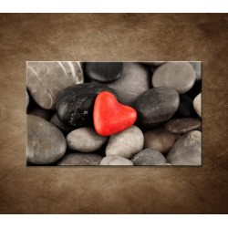 Červené srdce na kameňoch