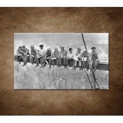 Obrazy na stenu - Robotníci na traverze