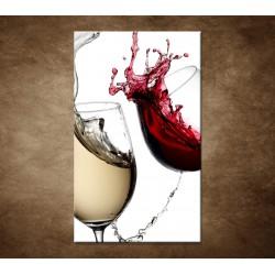 Obrazy na stenu - Biele a červené víno