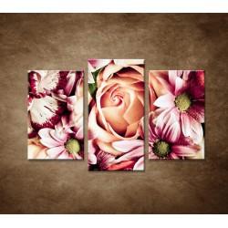 Kytica kvetov - 3dielny 75x50cm