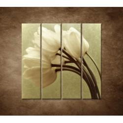Obrazy na stenu - Kytica tulipánov - 4dielny 120x120cm