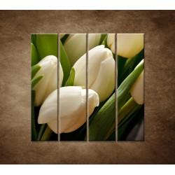 Kytica tulipánov - detail - 4dielny 120x120cm