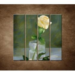Maľovaná ruža - 4dielny 120x120cm