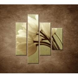 Obrazy na stenu - Kytica tulipánov - 4dielny 80x90cm