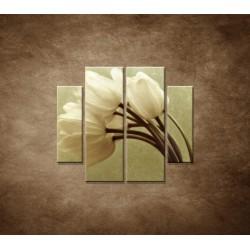 Obrazy na stenu - Kytica tulipánov - 4dielny 100x90cm