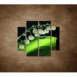 Obrazy na stenu - Konvalinka - 4dielny 100x90cm